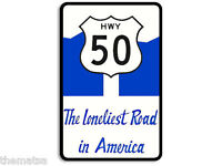 "HWY 50 LONLIEST ROAD IN AMERICA 5"" HELMET CAR BUMPER DECAL STICKER MADE IN USA"
