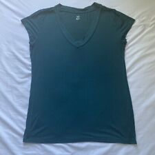 Mossimo Rayon/Spandex Blue Short Sleeve Shirt - Women's XL