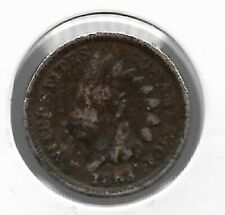Rare Very Old Antique US 1863 Indian Head Penny Civil War Collection NICE Coin