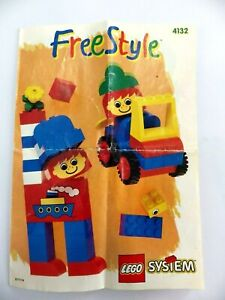 Instructions LEGO System Manual Instruction Mounting Ref:4132 Free Style