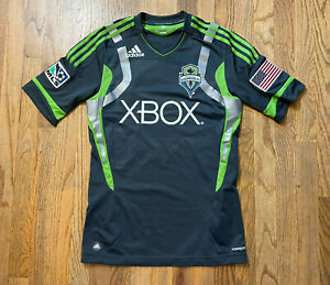 Mens Small Seattle Sounders FC Christian Tiffert Jersey #13 Adidas 2012-13 MLS S