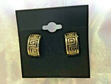 MINT High Quality Roman Geometric Design gold filled post earrings (B599-8)