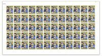 Australia 1965 5d Christmas Full Sheet Stamps Autotron Upper Left No Number 8-56