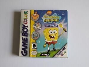 SpongeBob Squarepants Legend Of The Lost Spatula - Gameboy Colour - Complete