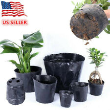 100Pcs Plant Nursery Pots Plastic Seedlings Planter Seed Nutrition Containers