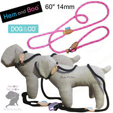 PINK Hem & Boo Dog & Co Soft Touch Rope Collar lead in 1 Figure 8 Halter Option