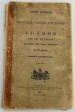 Antique maps, Principal streets and places in London, Post Office, 1857