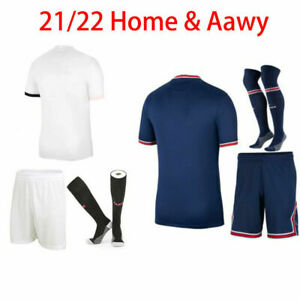 21/22 Kids Adults Home Full Kits Boys Soccer Training Suits Jersey