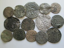 Sweden medieval 14 silver coins lot