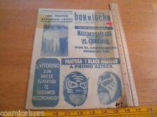 Mexico Lucha Libre 1997 Wrestling program Pantera vs Black Warrior