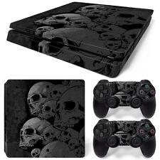 Sony PS4 Playstation 4 Slim Skin Aufkleber Schutzfolie Set - Skulls Motiv