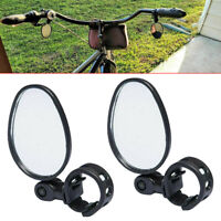 1 Pair Mini 360° Rotaty Handlebar Glass Rear View Mirror for Road Bike Bicycle