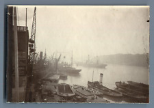 UK, London Docklands  Vintage silver print.  Tirage argentique  8x12  Circ
