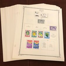 GUINEA 1959-69 CV $94 Stamp Collection SCOTT SPECIALTY Album Pages Lot