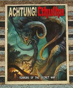 Achtung! Cthulhu - Terrors of the Secret War. RPG Call of/Savage Worlds. New.