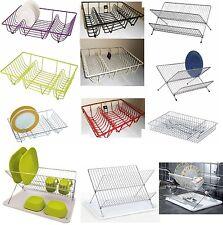 Gran escurreplatos Alambres de Metal Cutlery drenaje Soporte estante de placa Kitchen Sink