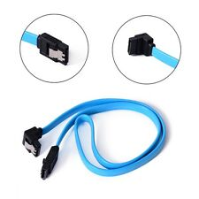 Useful SATA 3.0 III High Speed 6GB/s Data Cable Angle Cord Blue 18.5 in For PC