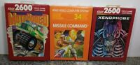 LOT OF THREE GAMES FOR ATARI 2600/7800 BRAND NEW VINTAGE RARE NOS OPEN BOX #12