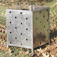 GENUINE PARASENE SQUARE GALVANISED INCINERATOR WITH LID - HOLES ALL THE WAY UP