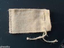 "Small Burlap Bags with Natural Jute Drawstring - 3x5"" - Pack of 12"