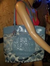 COACH LAURA SIGNATURE TOTE F18335~SV/POOL~New With Tags