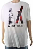 Armani Exchange Mens T-Shirt Classic White Size 2XL Graphic Logo Tee $55- #224