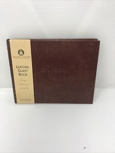 Gallery Leather Bound Guest Book -  Black - 190 Ruled Pages - New