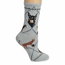 Doberman Pinscher Woman's Socks ,Gray,9-11