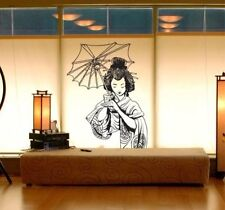 "Vinyl Wall Decal Sticker Japanese Geisha 20""x32"" Asian"
