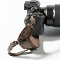 Leather Camera Hand Strap Secure Grip Wrist Stabilizer DSLR Canon Sony Universal