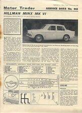 Hillman Minx Mk VI Motor Trader Service Data No. 445 1966