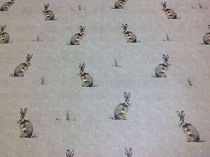 FRYETTS Matt PVC Hartley Hare Fabric,Wipe Clean,Tablecloth/Oilcloth.Full/half mt