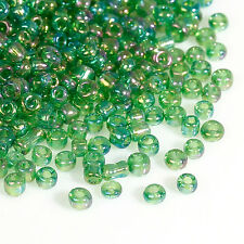 50g Green AB Seed Beads Glass 2mm Size 11/0 J09082XA