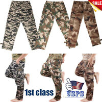 Men's Woodland Camouflage Polyester Uniform Tooling fatigues Military Belt Pants