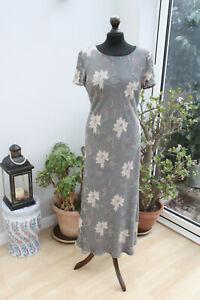 J Taylor Midi Grey Floral Occasion Dress UK 14