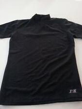 Tek Gear Mens Black 100% Polyester Mock Neck athletic workout Large Compression