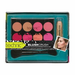 Technic Colour Fix Blush Crush Blusher Set With Highlights Stick & Blusher Brush