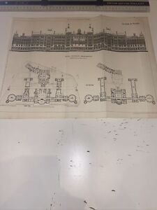 1897 Antique Architecture Building News Royal Infirmary Manchester