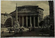 Cartolina Roma il Pantheon VIAGGIATA Postcard