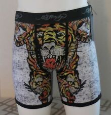 Ed Hardy Men's Tiger Collage Boxer Briefs Color Army Size S New