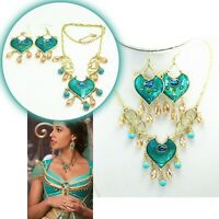 Necklace Earring Jewellery Set Princess Jasmine Aladdin Cosplay Women Link Chain