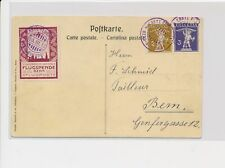 LM74355 Switzerland 1910 airmail postcard with nice cancels used