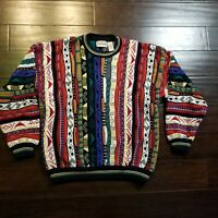 Vintage Coogi Style Cotton Traders Biggie Sweater Pullover 90s Mens Large