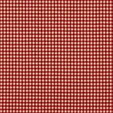 French Country Crimson Red Gingham Check Tailored Bedskirt