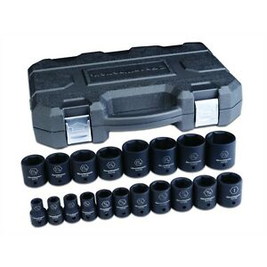 "Gearwrench 84932N 19 Piece 1/2"" Drive 6 Point Sae Standard Impact Socket Set"