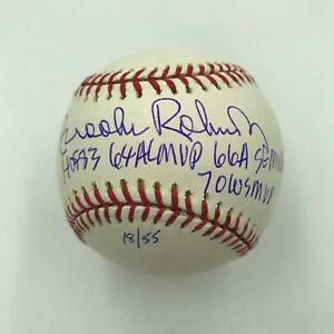 Brooks Robinson Signed Heavily Inscribed STAT Baseball Tristar & MLB Authentic