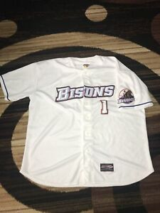 Buffalo Bisons Jersey Express Authentic Custom Jersey White Excellent XXL