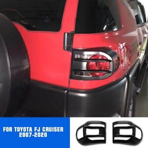 2pcs For Toyota FJ Cruiser 2007-2020 ABS Matte Black Rear Tail Light Cover Trim