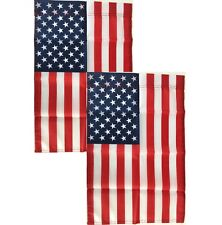 "(2)  American Garden Flags - 12"" x 18"" - United States of America - Yard Banner"