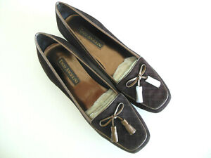 Enzo Angiolini Lizzia Brown Suede Loafer Sz 7.5 M